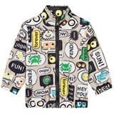 Fendi Text Print Branded Windbreaker Jacket
