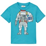 Paul Smith Junior Bright Blue Astronaut Print Tee