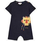 Paul Smith Junior Navy Lion Print Jersey Romper