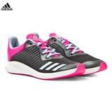 adidas Black and Pink Kids FortaRun Trainers