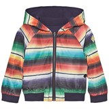 Paul Smith Junior Multi Stripe Reversible into Navy Jersey Hooded Jacket