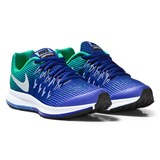 Nike Blue and Silver Zoom Pegasus 33 Junior Trainers