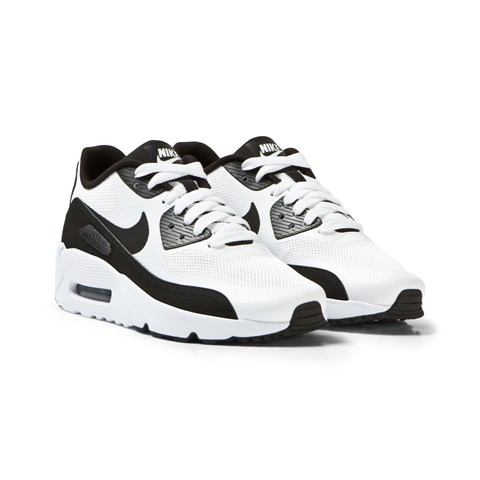 White and Black Air Max 90 Ultra 2.0 Junior Trainers