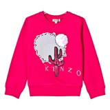 Kenzo Kids Hot Pink Cactus Embroidered Sweatshirt