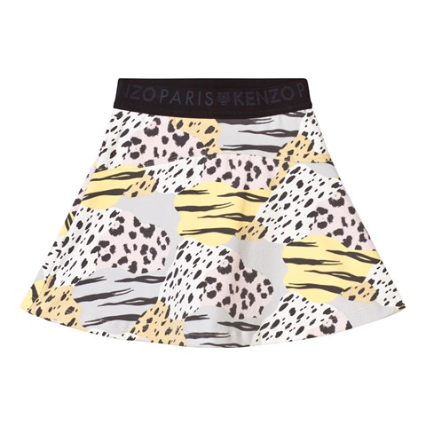 Animal Print Skirt with Branded Waisband