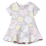Kenzo Kids Grey All-Over Tiger Print Jersey Dress