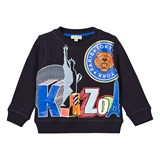 Kenzo Kids Navy Statue of Liberty Print Sweatshirt