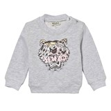 Kenzo Kids Grey Marl Animal Print Tiger Sweatshirt