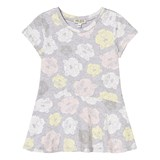 Kenzo Kids Grey Marl Tiger Print Jersey Dress