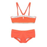 Pate de Sable Acid Red Embroidered Trim Bikini