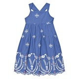 Billieblush Blue Broderie Anglaise Tiered Dress