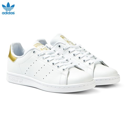 White and Gold Junior Stan Smith Trainers