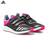 adidas Black and Pink Infants FortaRun Trainers