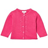 Absorba Fuchsia Knit Cardigan with Diamante Detail