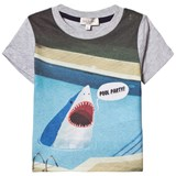 Paul Smith Junior Grey Pool Party Shark Print Tee