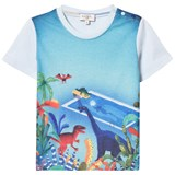 Paul Smith Junior Sky Blue Dinosaur Pool Print Tee