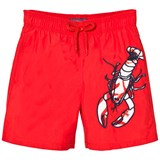 Vilebrequin Red Lobster Embroidered Trunks