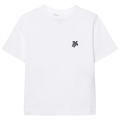 Vilebrequin White Turtle Embroidered Tee