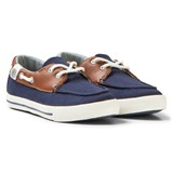 Mayoral Navy and Brown Canvas Deck Shoes