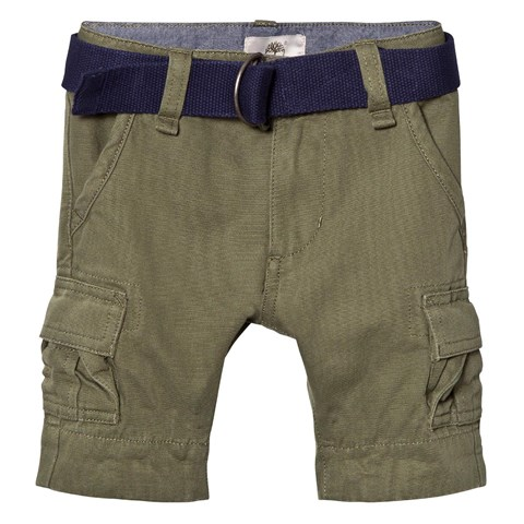 Khaki Cargo Shorts with Belt