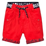Timberland Kids Red Branded Cotton Turn Up Shorts