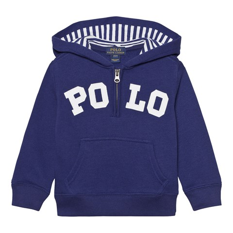 Navy Polo Branded Hoody