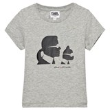 Karl Lagerfeld Kids Grey Karl and Choupette Print Tee (MINI ME)