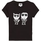 Karl Lagerfeld Kids Black Choupette and Karl Print Tee (MINI ME)