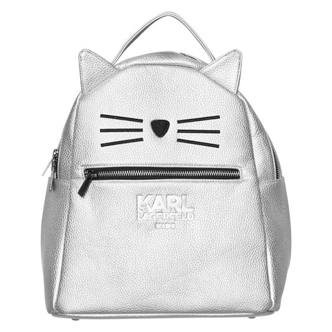 Karl Lagerfeld Kids Silver Choupette Backpack