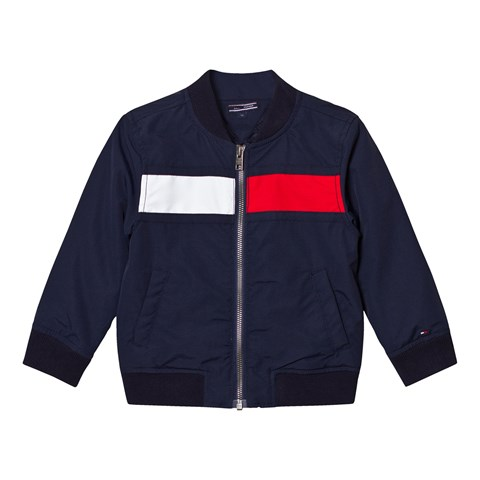 Tommy Hilfiger Navy Flag Bomber Jacket