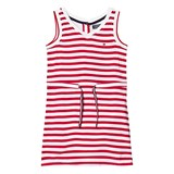 Tommy Hilfiger Red Stripe Jersey Dress with Drawcord Waist
