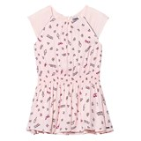 Karl Lagerfeld Kids Pink Icon Print Cap Sleeve Drop Waist Dress