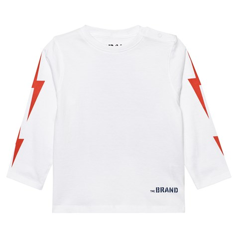 The BRAND White Boom Long Sleeve Tee
