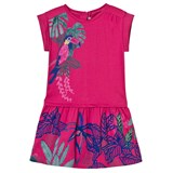 Catimini Pink Jungle Print Jersey Dress