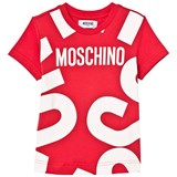Moschino Red Branded Tee
