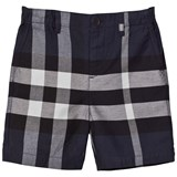 Burberry Navy Classic Check Shorts