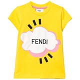 Fendi Yellow Branded Cloud Tee