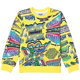 Moschino Yellow Mini Me Multi Signs Logo Sweater
