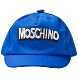 Moschino Blue Branded Baseball Cap