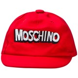 Moschino Red Branded Baseball Cap