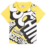 Moschino Yellow Branded Junior Tee