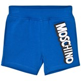 Moschino Blue Jersey Branded Shorts