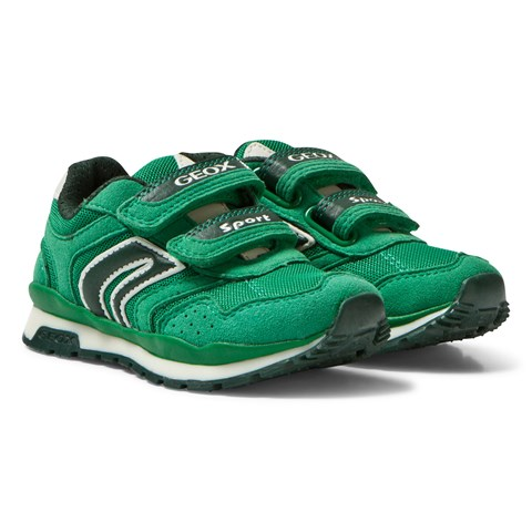 Geox Green Pavel Velcro Trainers