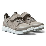 Geox Grey Suede Xunday Velcro and Elasticated Lace Trainers