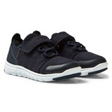 Geox Navy Suede Xunday Velcro and Elasticated Lace Trainers