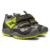 Geox Grey and Lime Velcro Savage Trainers
