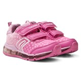 Geox Pink Android Light Up Velcro Trainers