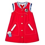 Little Marc Jacobs Red Glitter and Badge Dress
