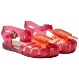 Mini Melissa Pink Glitter Lollipop Jelly Sandals