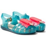 Mini Melissa Turquoise Glitter Lollipop Jelly Sandals